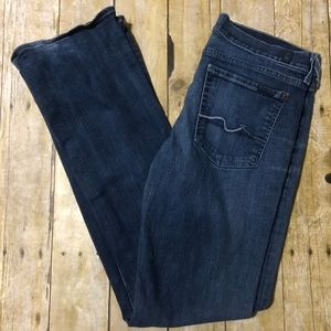 7 For All Mankind Jean-Blue Denim Boot Cut Size 31